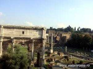 arcul lui septimius severius forul roman