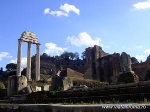 templul lui castor si polux forul roman