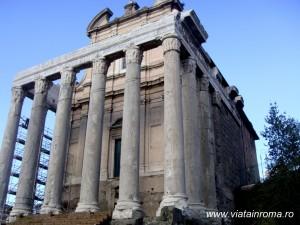 templul lui antonius si faustina forul roman